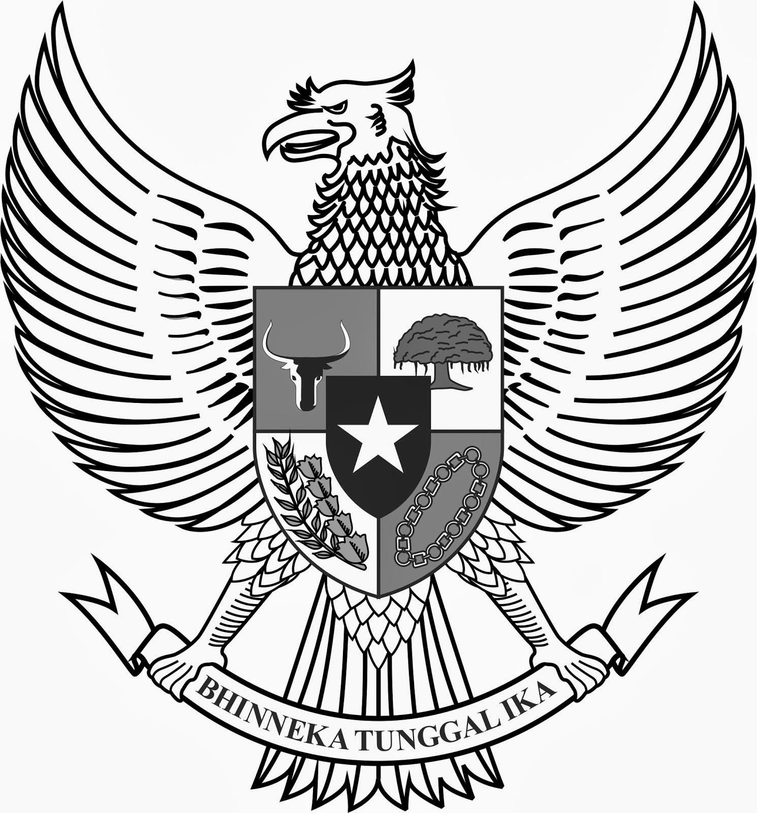 Logo Lambang Garuda Hitam Putih (BW) - Cari Logo