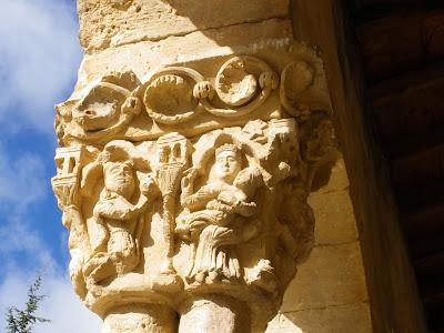 Iglesia románica de Sotosalbos, Segovia, Castilla y León, arte románico, capitel