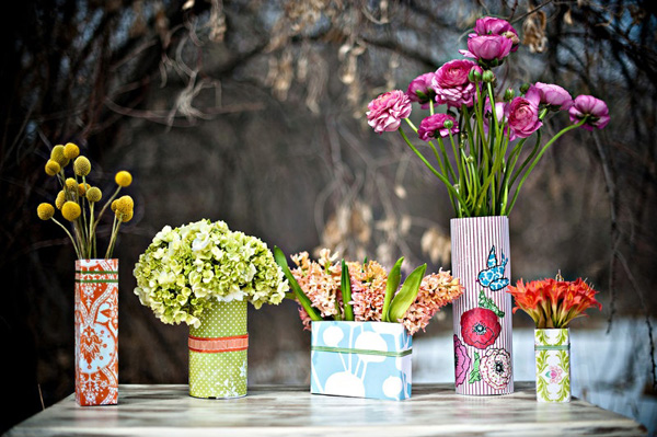 Vasen im Bohemian Style zum Selbermachen - flotte Deko für jede Party!