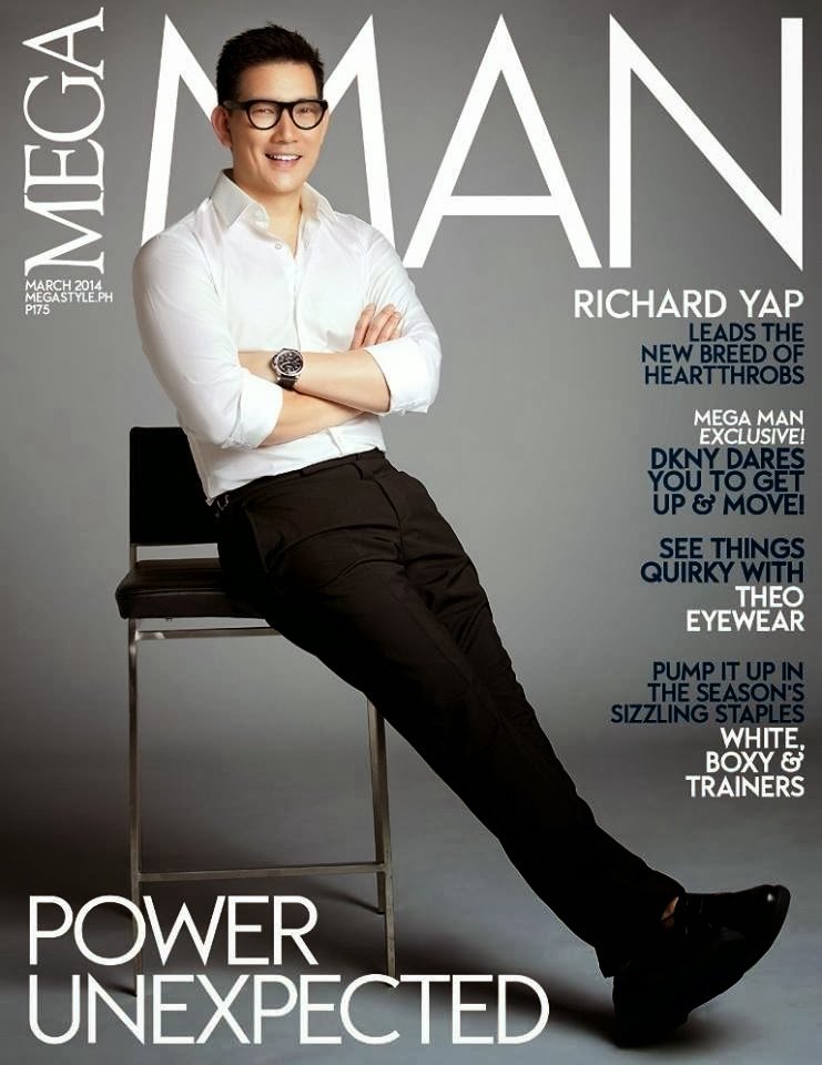 Richard Yap is the cover guy of Mega Man March 2014