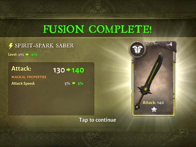 Dungeon Hunter 5 Weapon Fusion Screenshoot