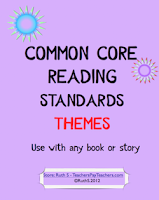photo of Common Core Standards Reading Themes TeachersPayTeachers.com