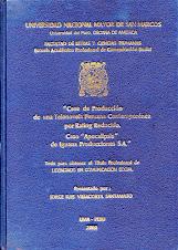 """LUIS LLOSA URQUIDI Y LA TELENOVELA """"APOCALIPSIS"""" / LUIS LLOSA & THE PERUVIAN SOAP OPERA APOCALIPSIS"""