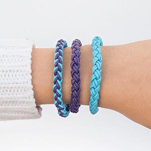 DIY Round Braid Leather Bracelet