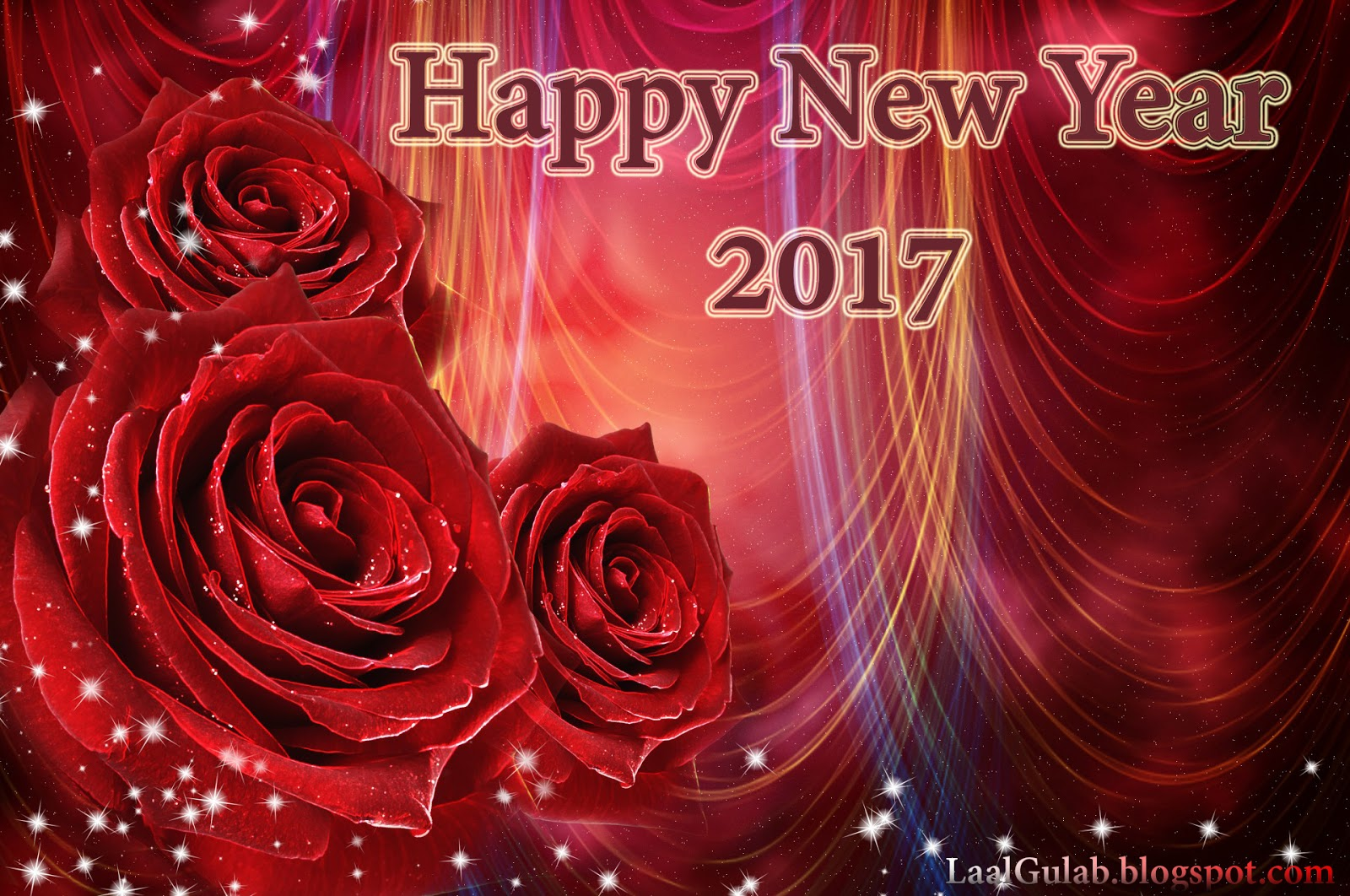 chocolate color happy new year 2017 wallpaper