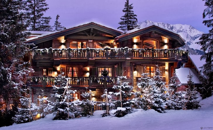 Wooden ski resort home