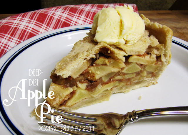 Deep Dish Apple Pie Recipe - Positively Splendid {Crafts, Sewing ...