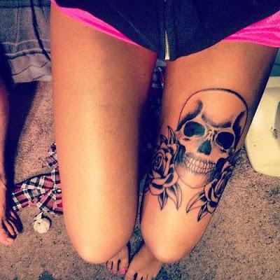 Girl Thigh Tattoo Ideas Tumblr
