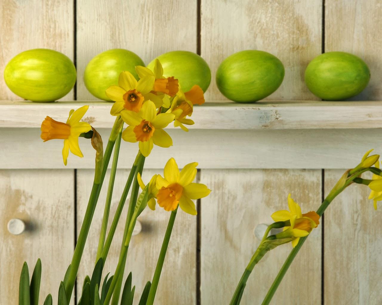 fondo de pantalla huevos de pascua verde