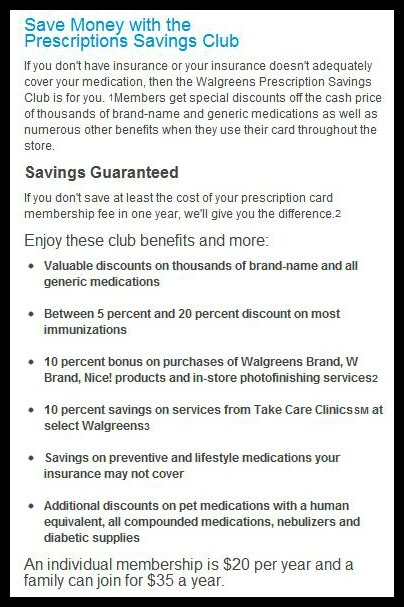 after reading that information i was so happy to know that i will be saving a decent amount of money but how much do the prescriptions costs you ask - Walgreens Prescription Card