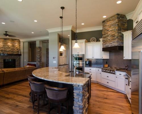 اجمل تصميم مطبخ مفتوح على غرفة الصالة جامد جدا 2016