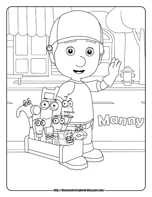 Handy Manny 1: Free Disney Coloring Sheets title=