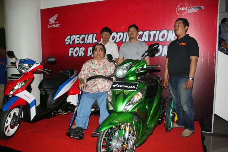 Modifkasi Motor untuk Penyandang Cacat (Difabel) Terbaru 2014