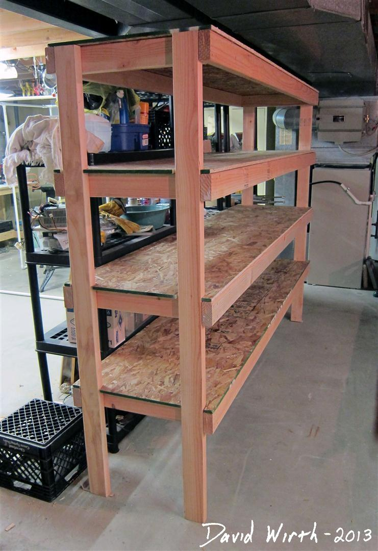 easy wood shelf design, plans, build, 2x4, cheap, cost, money, strong