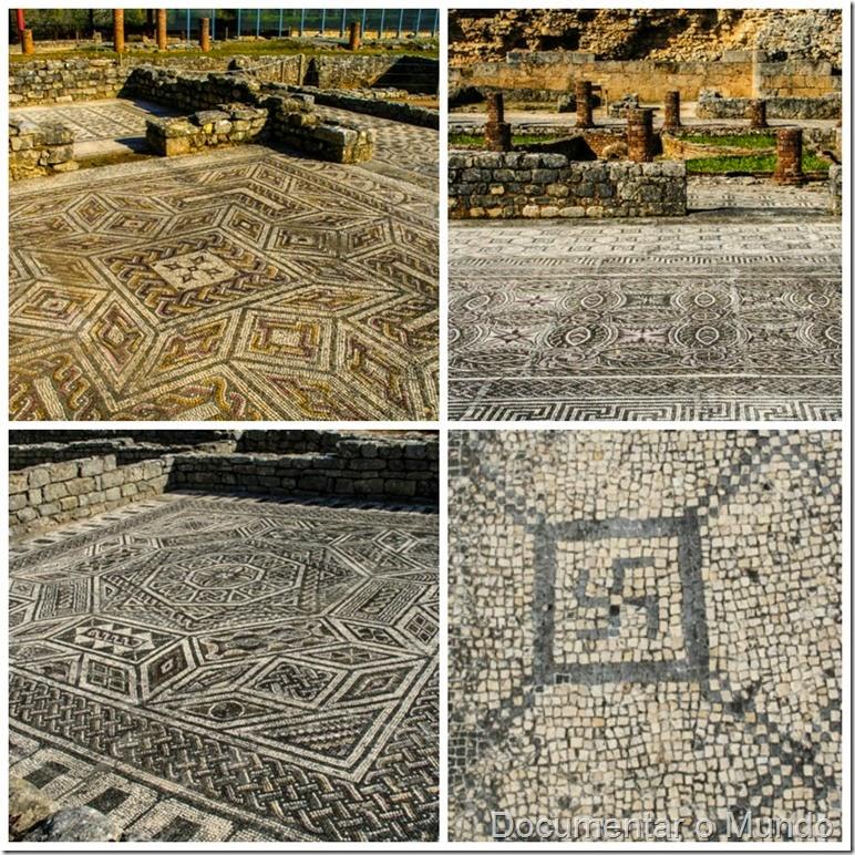 Casa da cruz suástica e casa dos esqueletos; Ruínas de Conímbriga; Vestígios romanos em Portugal; romanização em Portugal
