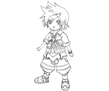 #5 Riku Coloring Page