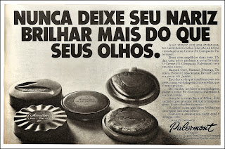 propaganda pó compacto Parlemont; moda anos 70. propaganda anos 70; história da década de 70.  reclames anos 70; brazil in the 70s; Oswaldo Hernandez