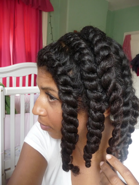 natural hair, twist out, curly hair, styling, around the way curls, tutorial, flat twists