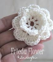 Häkelblüte Frieda : Anleitung