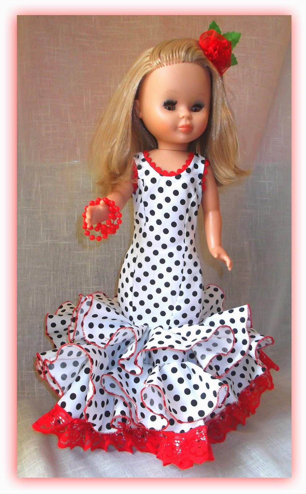 ademas de otras muñecas: Tutorial traje de flamenca para Pepa o Nancy