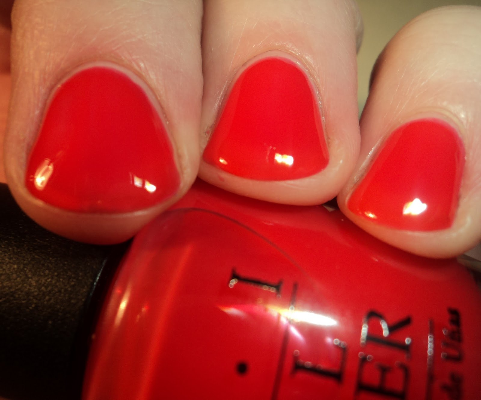 Nails Orange Leaning Tomato Red Opi S Pr Info Stated Rosy Pageant Peach But On Me This Was Definitely A Y I Get The Hint Of