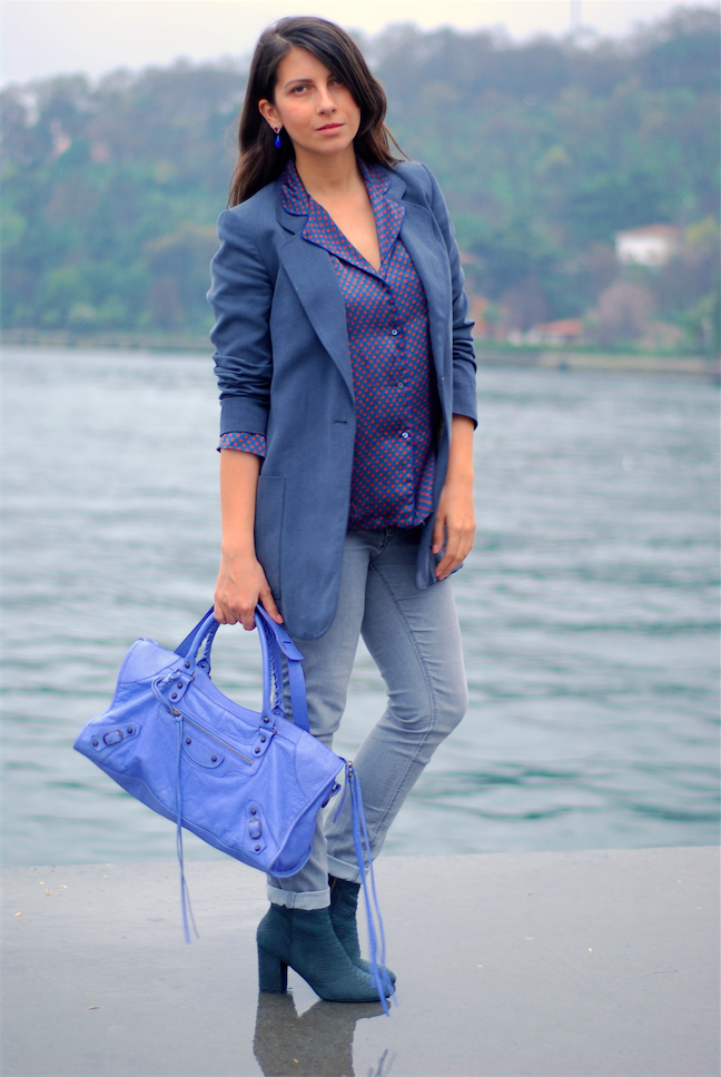 trendydolap,pyjama blouse, pyjama trend,balenciaga bag,streetstyle,blogger