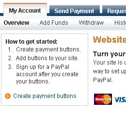 how to create a paypal account for donations