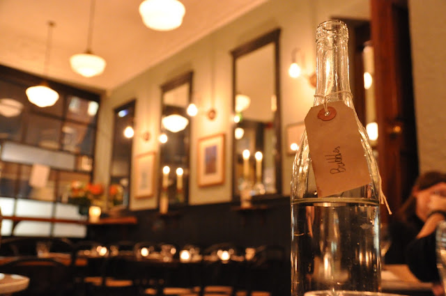 The Quality Chop House review Farringdon Road sparking water