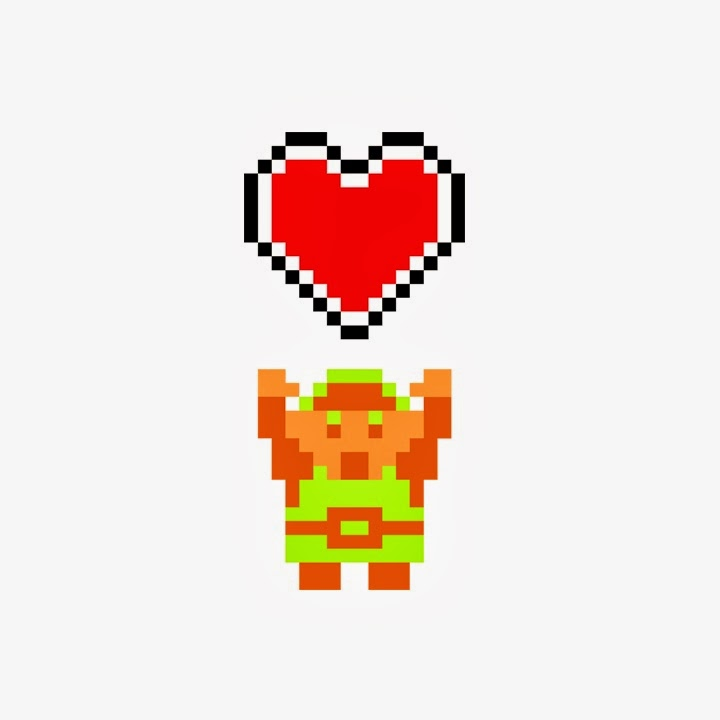 valentines day geek link heart zelda
