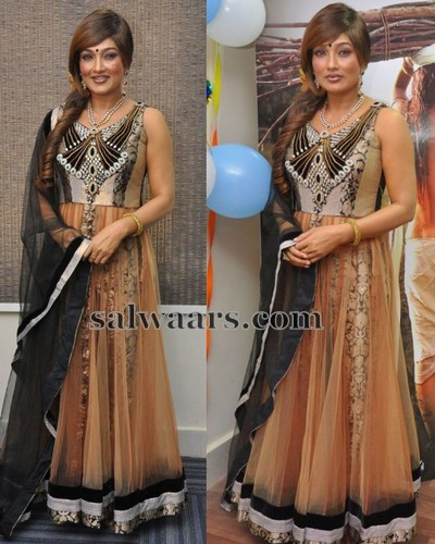 Ramya Sri Netted Long Salwar