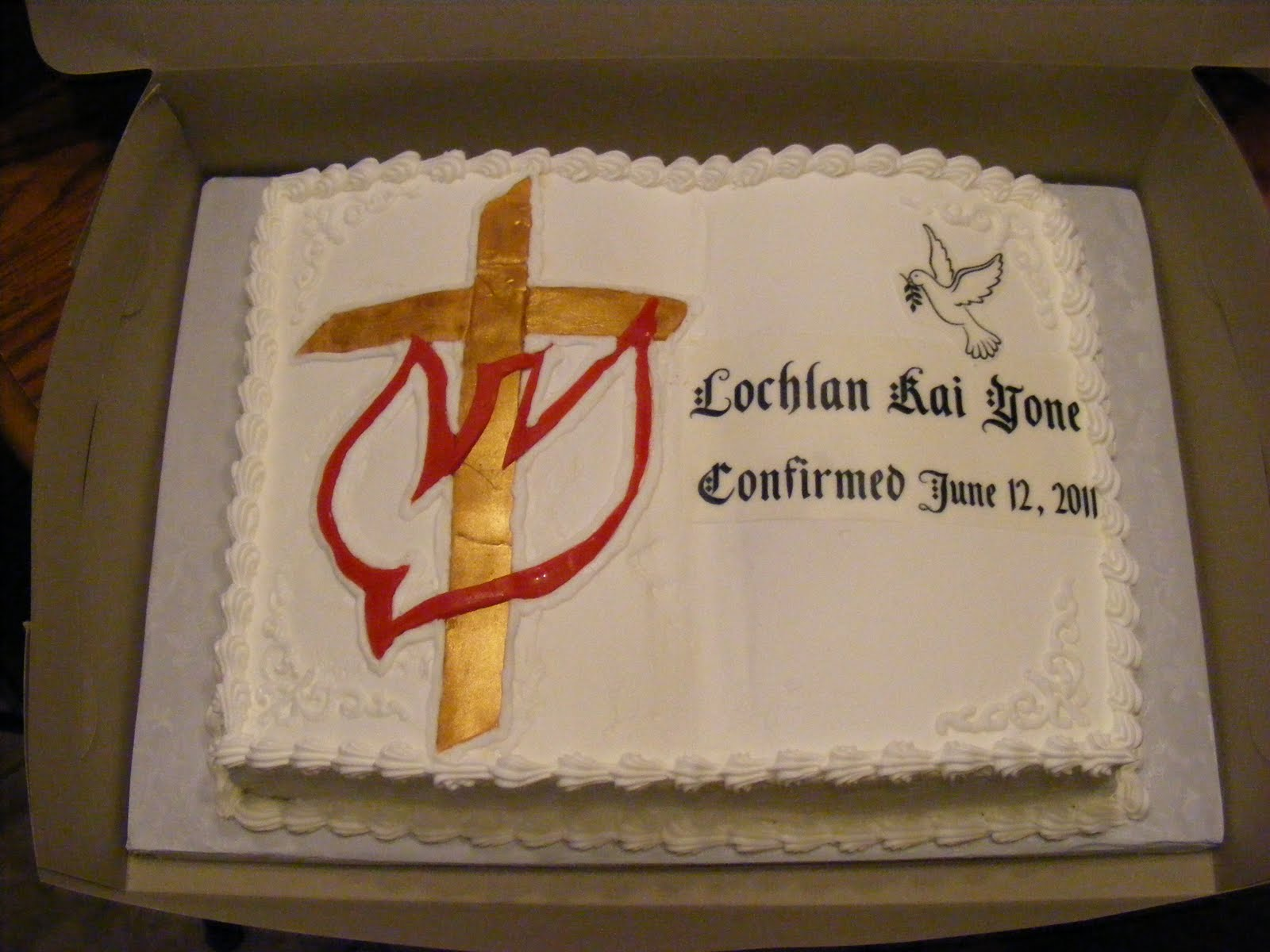 confirmation cakes designs