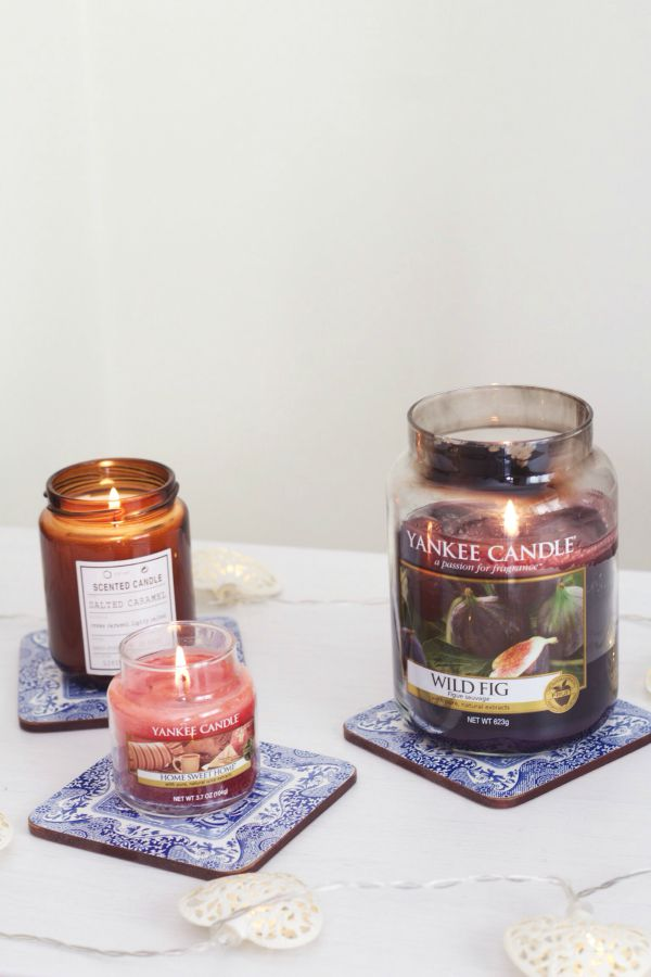 3 Autumn scented candles