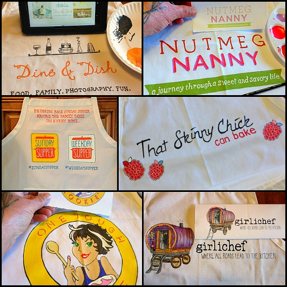 Food Blogger Custom Logo Aprons