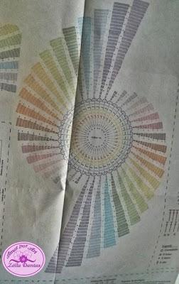 Caminho de mesa espiral com gráfico