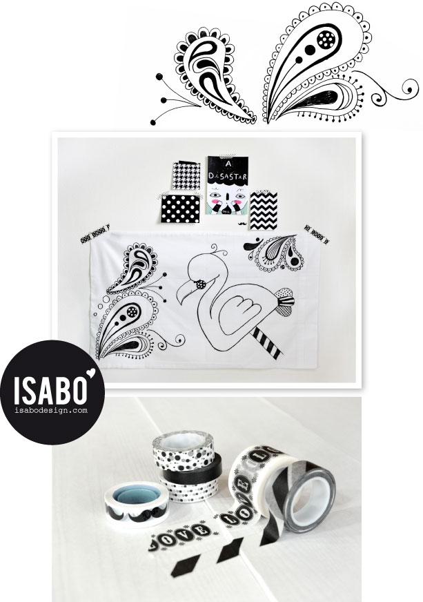 ISABO_ Illustration_Handmade_Black & White