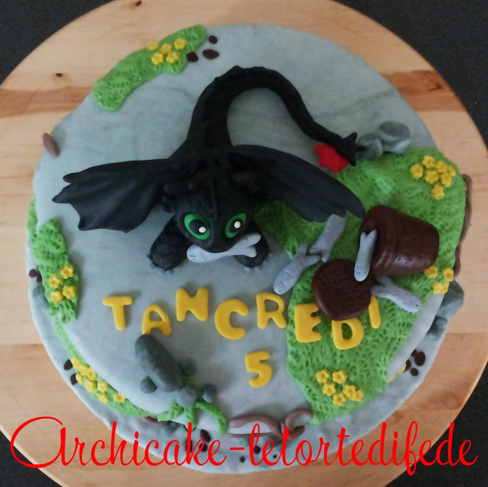 Cake Design Dragon Trainer : Archicake - Le torte di Fede: Dragon Trainer - Sdentato