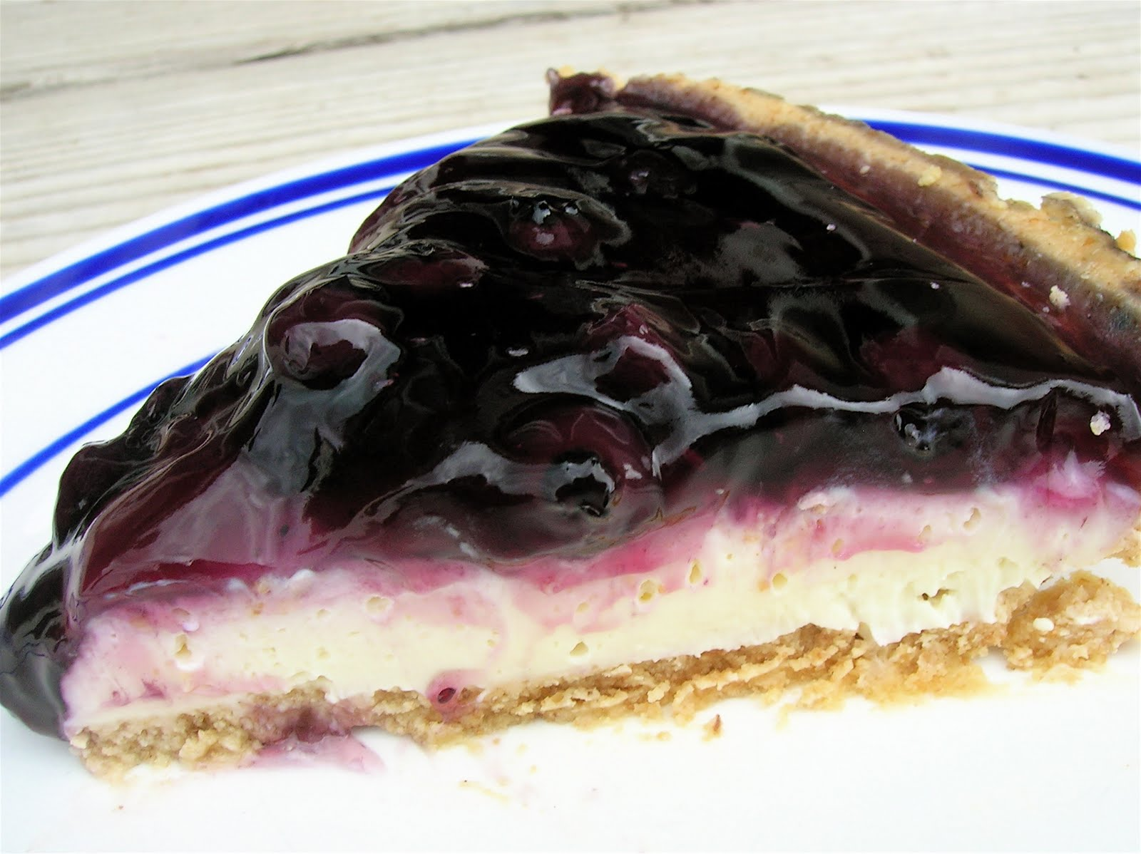 No Bake Fluffy Blueberry Cheesecake / Six Sisters' Stuff | Six Sisters ...