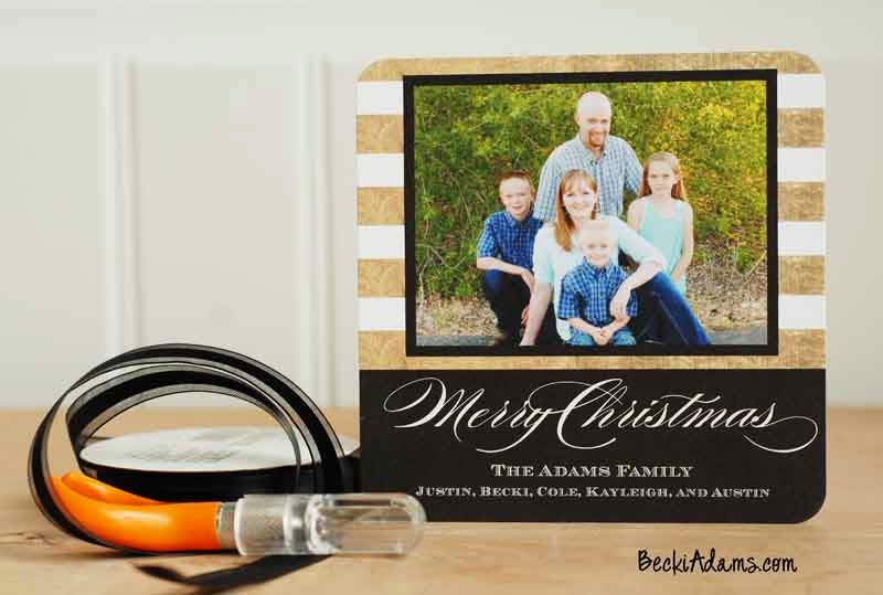 Personalized preprinted Christmas Cards by Becki Adams #ChristmasCards #Cardmaking #Papercrafting #PersonalizedChristmasCards