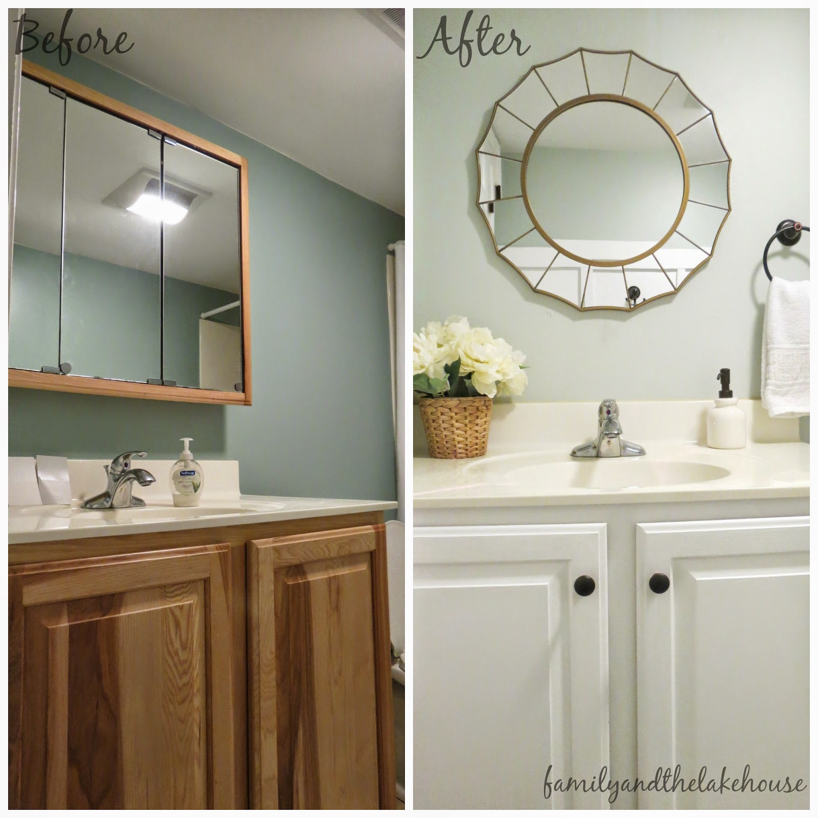 Family And The Lake House Guest Bathroom Before And After