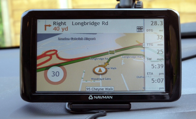 Navman Panoramic guidance screen