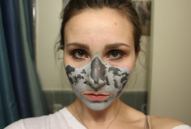 GlamGlow Supermud Clearing Treatment Youthmud Tinglexfoliate Treatment before during after review