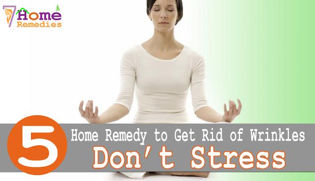 Get rid of stress meditating