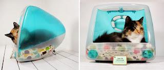 Pantallas iMac Convertidas en Casas para Mascotas, Ideas de Reciclaje