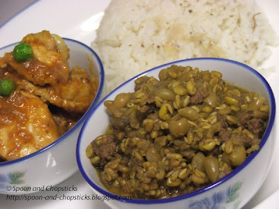 Fenugreek with Dried Peas and Mince
