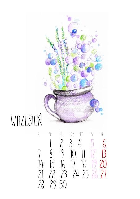 *kalendarz do druku* miesiąc WRZESIEŃ