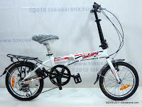 Sepeda Lipat ELEMENT DASH 7 Speed Shimano 16 Inci
