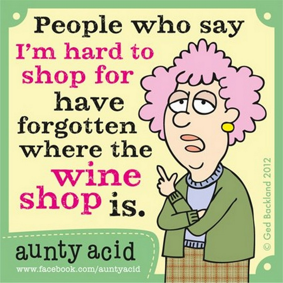 Aunty Acid posts at irregular intervals on FaceBook.
