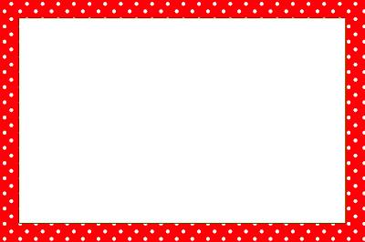 Vermelho E Branco Bolinhas   Kit Completo   Molduras Para Convites