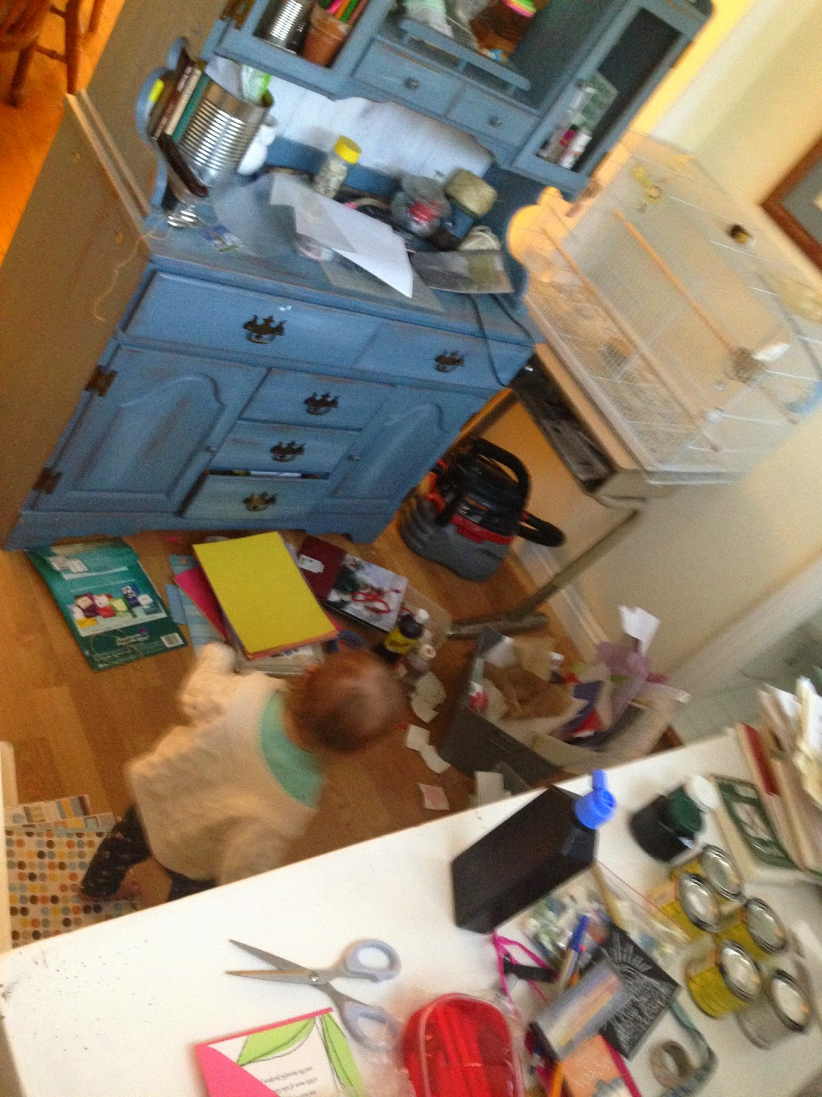 Sorting and purging art supplies :: OrganizingMadeFun.com