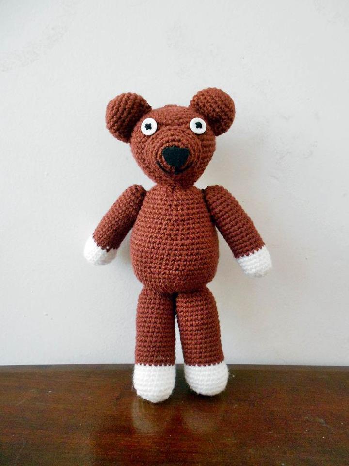 gondang emas crochet mr bean 39 s teddy bear crochet. Black Bedroom Furniture Sets. Home Design Ideas